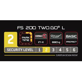 Trelock FS 200 TWO.GO L - Antivol vélo - support inclus jaune/noir